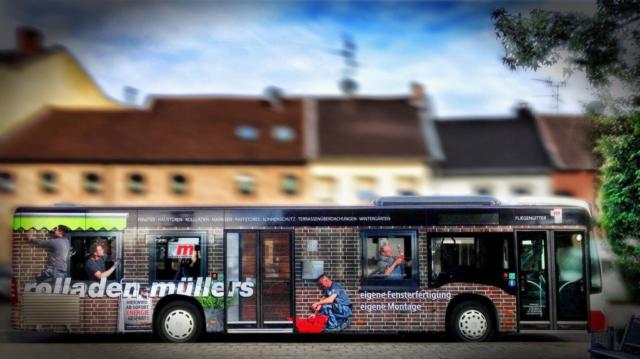 Busbeschriftung Fotograf Lothar Drechsel Mönchengladbach