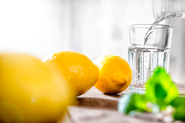 Foodfotografie Zitrone Wasser Fotograf Lothar Drechsel Mönchengladbach